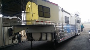 20150220 083620 300x169 Horse trailer polishing